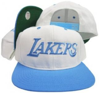Los Angeles Lakers White / Baby Blue Adjustable Vintage
