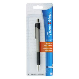 Paper Mate Design Stainless Steel Black Ink Fine Ball Point Pen