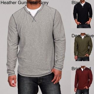 Seven7 Mens Crew Neck Slit Shirt