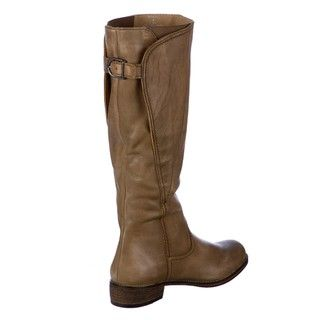 Steven by Steve Madden Womens Sowing Taupe Leather Riding Boots