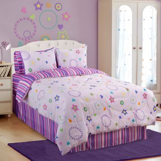 Glow In The Dark Star Glow 4 piece Queen size Comforter Set