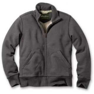 Eddie Bauer Classic Fit Sherpa Lined Fleece Mockneck, Iron