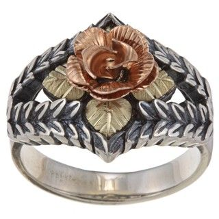 Black Hills 12 karat Gold Over Sterling Silver Dakota Rose Ring