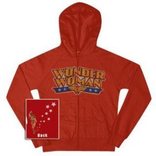 Wonder Woman   Stars Ladies Zip Up Hoodie   Small