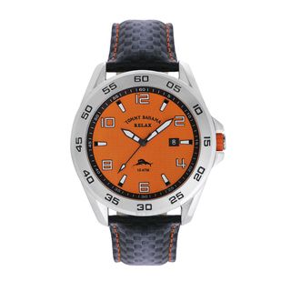 Tommy Bahama Mens Relax Orange Dial Watch