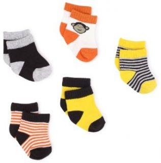 Carters Hosiery Baby boys Newborn Six Pack Monkey Sock