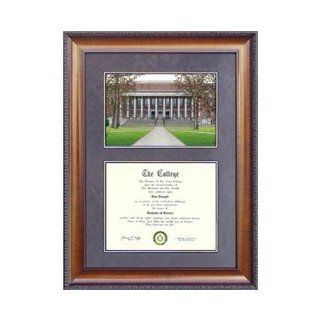 Harvard University Suede Mat Diploma Frame with Lithograph