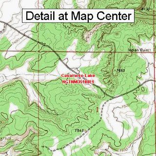 USGS Topographic Quadrangle Map   Casamero Lake, New