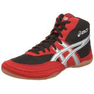 ASICS Mens Matflex Wrestling Shoe,Red/Silver/Black,8.5 D US Shoes