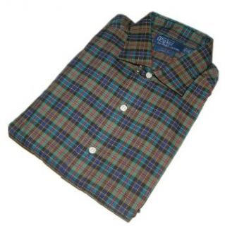 Polo Ralph Lauren Mens Dress Shirt Plaid Green Red Yellow