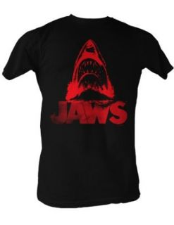 Jaws T shirt Red Jaws Classic Adult Black Tee Shirt
