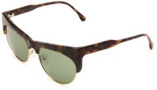 Monroe Cat Eye Sunglasses,Tortoise Frame/Green Lens,One Size Shoes