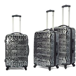 Benzi 3 piece Lightweight Fashion Spinner Hardside Luggage Set