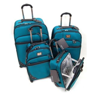 Kenneth Cole Reaction Aqua Curve Appeal II 4 piece Spinner Luggage Set