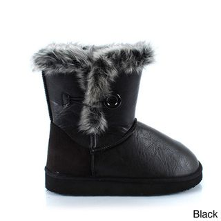comfort Womens Oakley 118 Faux Fur Button Boots
