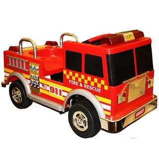 Red Fire Engine Pedal Car