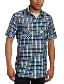 Rocawear Mens Short Sleeve Conference Shirt, Black, Large
