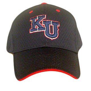 FITTED CAP HAT KANSAS JAYHAWKS MESH NAVY BLUE MED LARGE