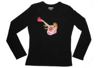 Pin up Girl Sweetheart with Rose Appliqued Ladies Shirt