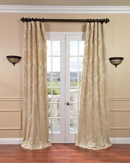 Magdelena Champagne Faux Silk Jacquard Curtains