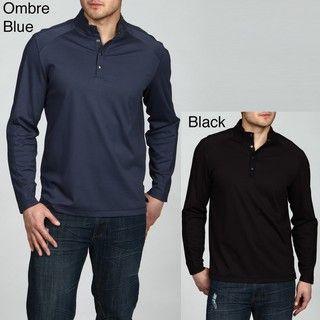 Calvin Klein Mens 4 button Liquid Interlock Shirt