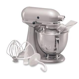KitchenAid RRK150SM Silver 5 quart Artisan Tilt Head Stand Mixer