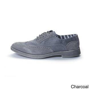 Hey Dude Mens Vinci Suede Canvas Oxford Shoes