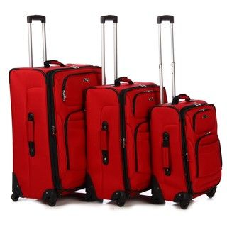 Delsey Helium 3 piece Expandable Spinner Luggage Set