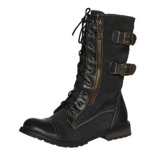 Groove Womens Force Black Belted Boots FINAL SALE
