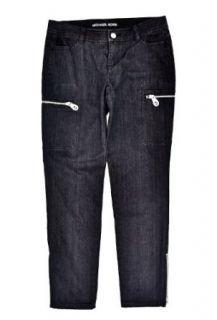 MICHAEL Michael Kors Black Skinny Utility Ankle Zip Pants