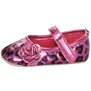 Baby Girl Pink Leopard Ballet Flat Crib Shoes