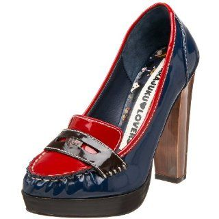 Harajuku Lovers Womens Pace Pump,Navy/Red,7 M US Shoes