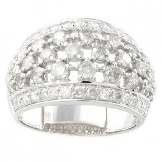 Beverly Hills Charm 14k White Gold 1 11/12ct TDW Diamond Dome Ring