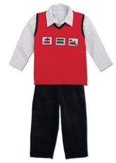 Good Lad Boys Infant Train Sweater Vest 3 Piece Set (4T