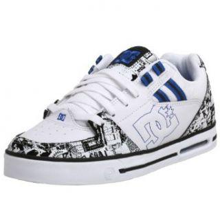DC Mens Voltron SE Sneaker,White/Black/Royal,6 M Shoes