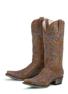 Lane Boots Wild Ginger Brown Leather Cowgirl Boots: Shoes