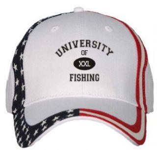 UNIVERSITY OF XXL FISHING USA Flag Hat / Baseball Cap