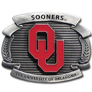 Oklahoma Sooners Oversized Belt Buckle Sports & Outdoors