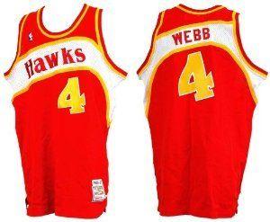 Mitchell & Ness Spud Webb Atlanta Hawks 1987 Road Jersey