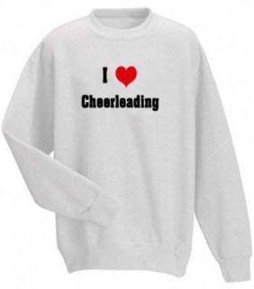 I Love/Heart Cheerleading Adult Sweatshirt (Crewneck