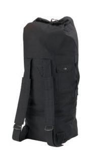 Black GI Style Double Strap Duffle Bag Clothing