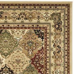 Lyndhurst Collection Multicolor/ Beige Rug (4 x 6)