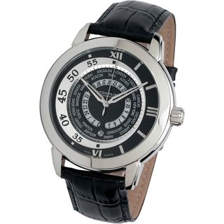 Stuhrling Mens World Traveler Stainless Steel Watch