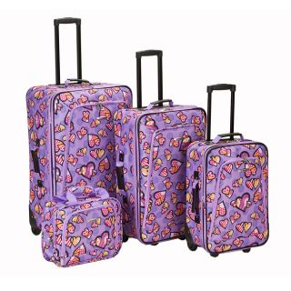 expandable 4 piece luggage set msrp $ 239 00 today $ 109 99 off msrp