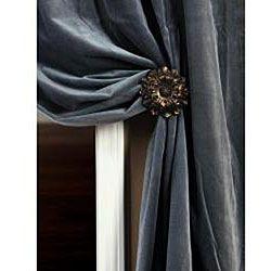 Signature Slate Blue Velvet 108 inch Curtain Panel