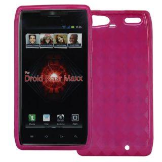 SKQUE Motorola DROID RAZR MAXX Pink TPU Case