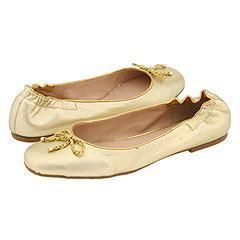Lilly Pulitzer Roped Ballet Flat Metallic Gold