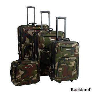 Rockland Deluxe Camouflage 4 piece Luggage Set