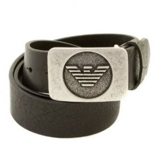 Armani Jeans black leather belt R6119 ZJ AJM0358 Clothing