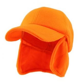 Fleece Earflap Ball Cap   Orange W29S67E Clothing